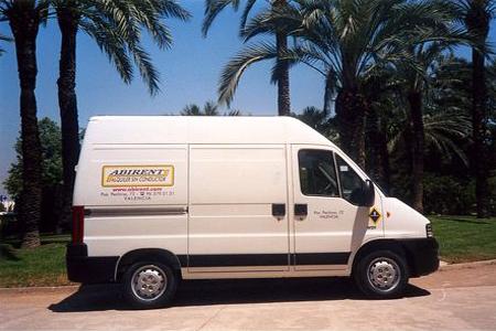 Alquiler furgoneta valencia Peugeot boxer 290